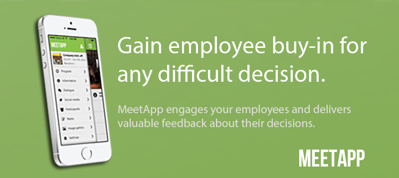 Gain employee buy in for any difficult decision