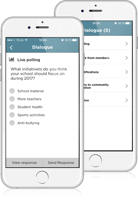 Use live polling to get instant feedback from your community members